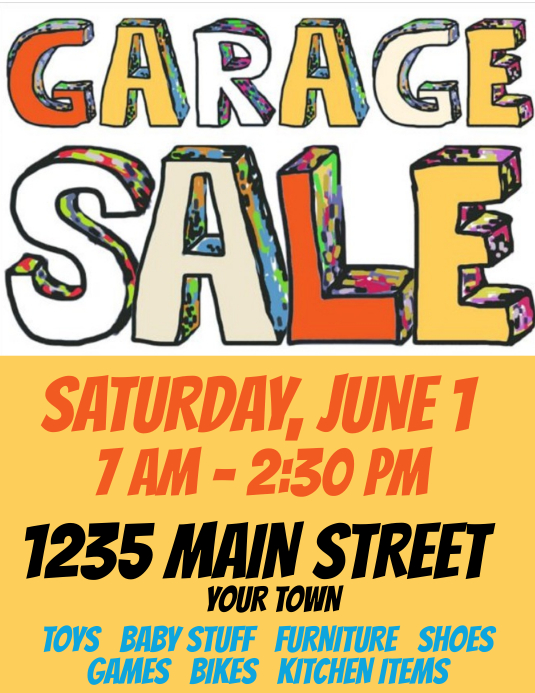 Garage Sale Simple but Cool