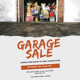 Garage sale Video Design Template