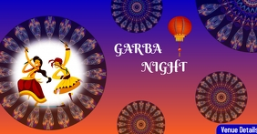 Garba Night Facebook Advertensie template