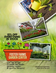 Garden Center Nursery Flyer Template