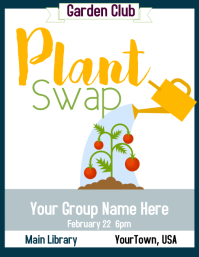 Garden Club Plant Swap Flyer