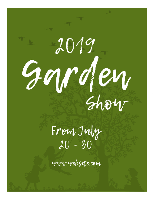 garden expo flyer template