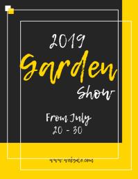 garden expo flyer template