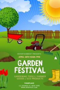 Garden Festival Flyer Design Template Poster