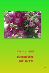 Garden Festival Poster #garedening #flowers #artbyshrsh