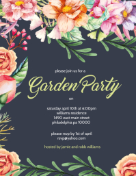 Garden Party Flyer (US Letter) template