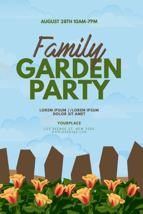 Garden Party Flyer Design Template