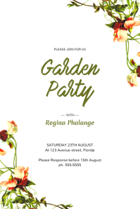 Garden Party Flyer invitation Template