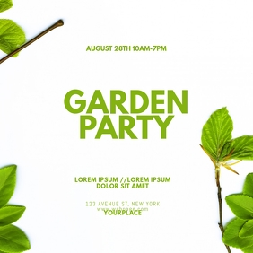 Garden Party Instagram Post Template