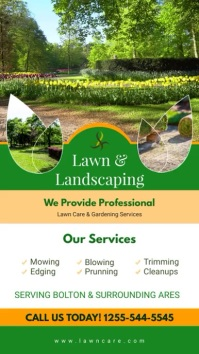 Gardening and Landscaping Service Digital Display