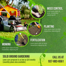 Gardening and Weed Control Advert Сообщение Instagram template