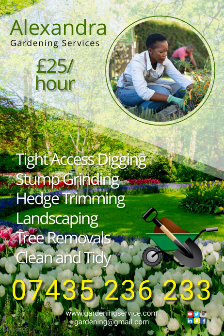 Gardening Company Flyer Poster template