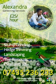 Gardening company poster