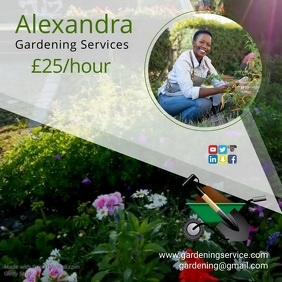 Gardening company poster
