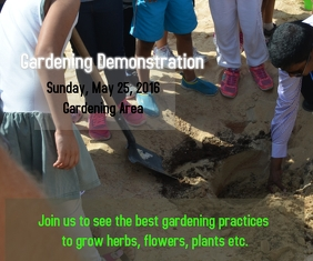Gardening Demonstration Medium Reghoek template