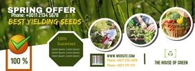 Gardening Facebook Cover| Green Header template