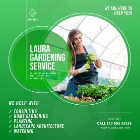 Gardening Service Instagram advert
