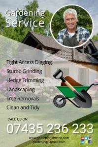 gardening service poster Plakkaat template