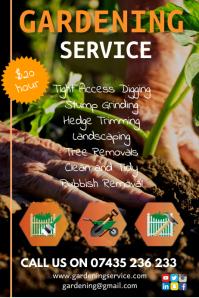 Gardening services flyer