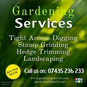 Gardening services poster