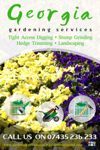 Gardening services poster template