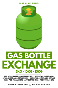 Gas Bottle Poster