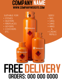 Gas Company Flyer Template