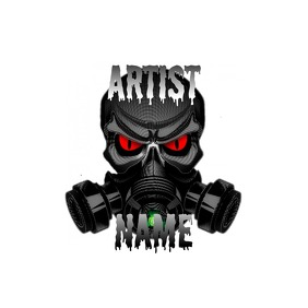GAS MASK LOGO TEMPLATE 2 โลโก้