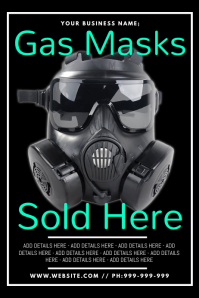 Gas Masks Sold Here Poster
