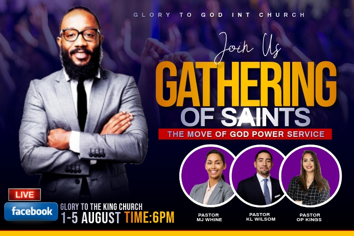 gathering of saints flyer Label template