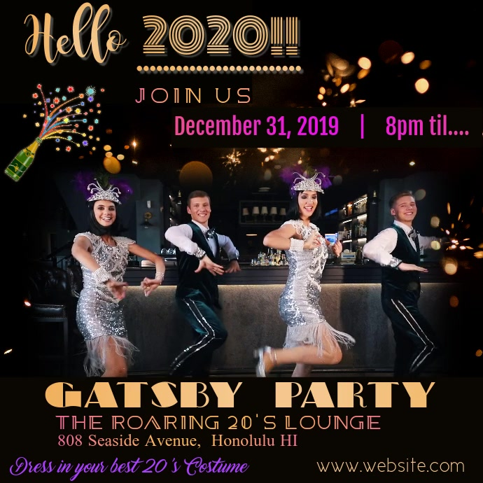 Gatsby New Year's Party Video