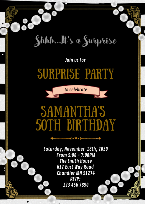 Gatsby theme party invitation