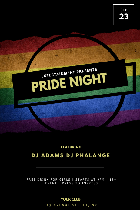 Gay LGBT Pride Flyer Template