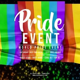 GAY PRIDE EVENT Dropping Flags Quadrado (1:1) template