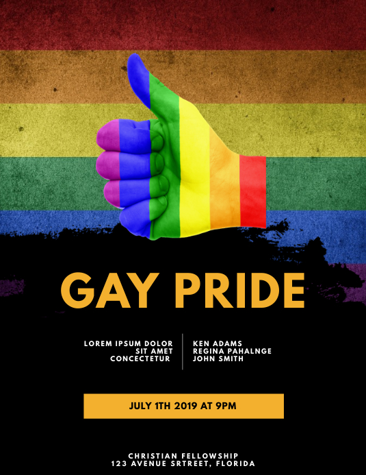 Gay pride event Flyer Template
