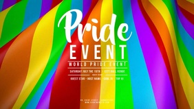 GAY PRIDE EVENT Ondulating Pride Flag