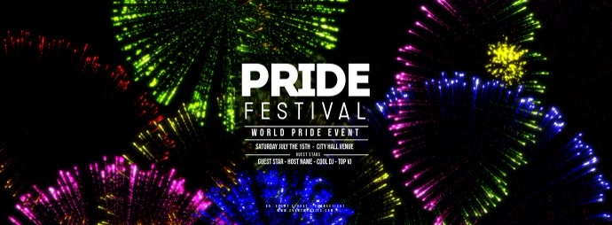 GAY PRIDE Festival - Fireworks Foto Sampul Facebook template