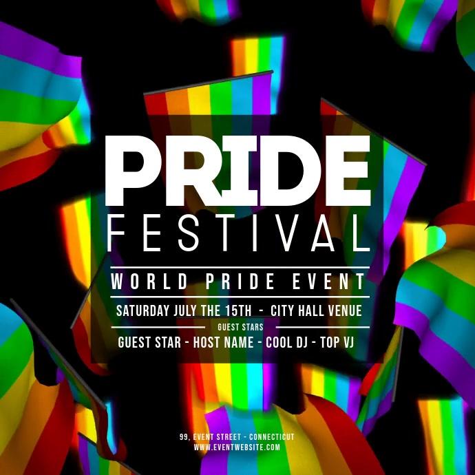 GAY PRIDE FESTIVAL FLAGS Kvadrat (1:1) template
