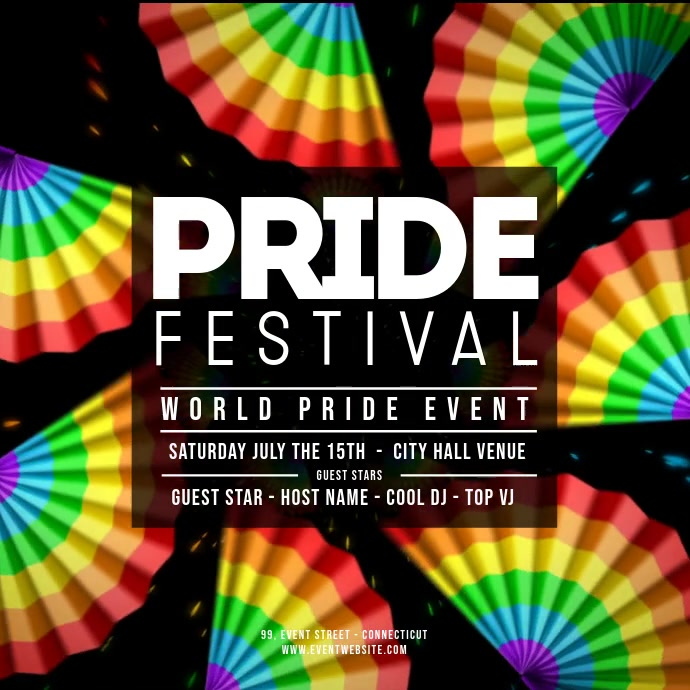 GAY PRIDE FESTIVAL FUNS Instagram-opslag template