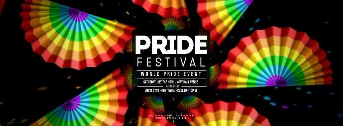 GAY PRIDE FESTIVAL - Rainbow Fans Foto Sampul Facebook template