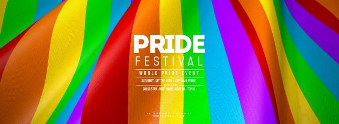 GAY PRIDE FESTIVAL Waving Flag Foto Sampul Facebook template