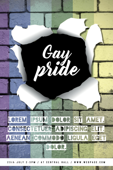 Gay pride Flyer TEmplate
