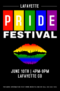 Gay Pride Poster template