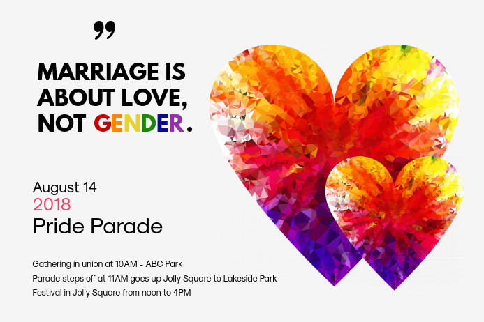 Gay Rights Parade Poster Template