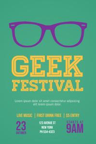 Geek Nerd Event Flyer Template