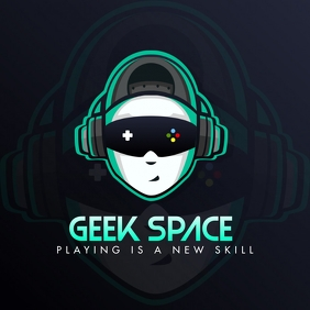 Geek Video Game Streamer Logo