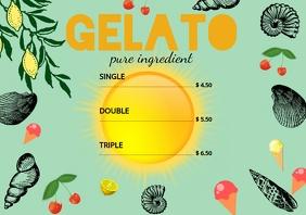 Gelato template pricelist A4