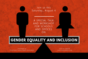 Gender Equality Forum Poster Template
