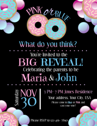 Gender Reveal! Flyer (US Letter) template
