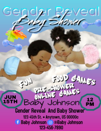 Gender Reveal Baby Shower Flyer (US Letter) template